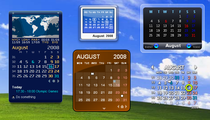 Rainlendar Lite – kalender